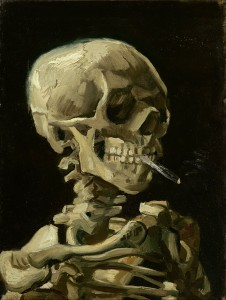 Vincent van Gogh Head of a Skeleton with a burning cigarette